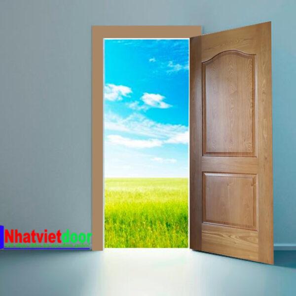 Cửa gỗ công nghiệp HDF Veneer mẫu 2A-Ash