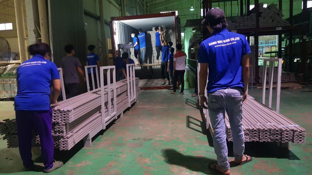 Quá trình nhập liệu-đóng gói của nhà máy