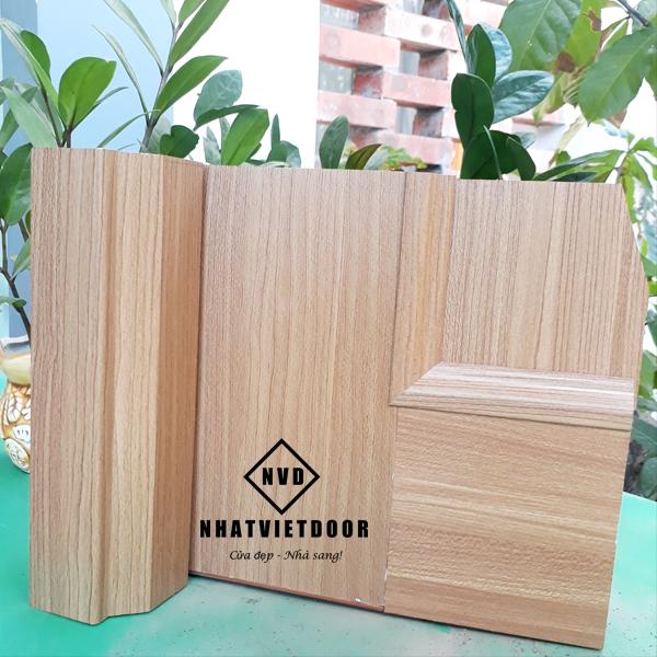 Mặt cắt cửa nhựa giả gỗ Đài Loan