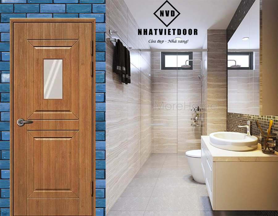 Mẫu cửa nhựa dành cho Toilet