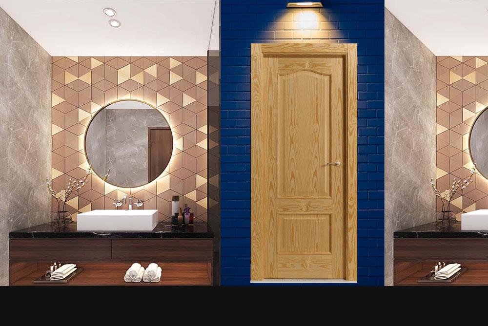 Mẫu cửa gỗ sồi tự nhiên 2A