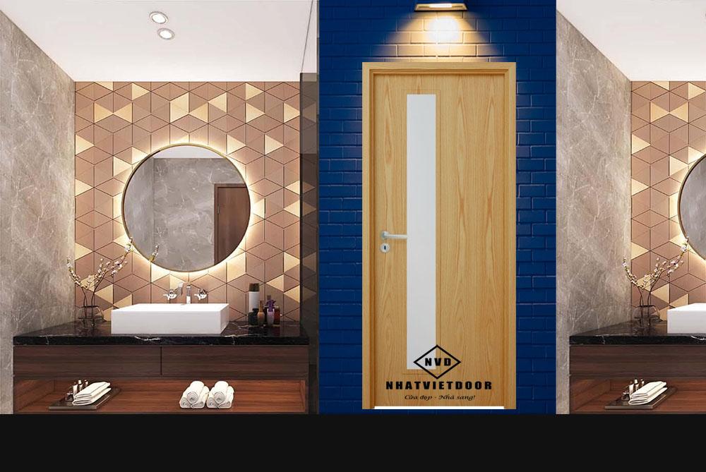 Mẫu cửa gỗ công nghiệp MDF veneer Sồi P1Gd