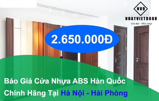 Cửa nhựa ABS Hàn Quốc tại Hà Nội - Hải Phòng chỉ 2.650.000Đ