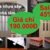 Giá cửa nhựa xếp nhà tắm 190000